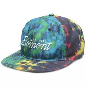 Element Offical Headwear Tie-Dye Snapback Hat BNWT
